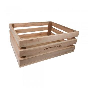 Holzkiste groß Gartenfreund aus Palettenholz, 37 x 14 x 28 cm, 14,5 l