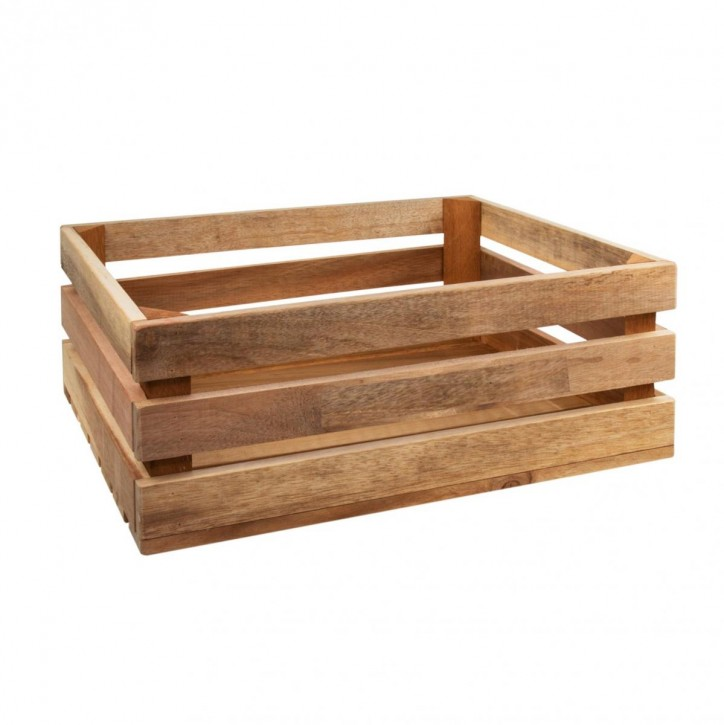 Holzkiste groß aus Palettenholz, 37 x 14 x 28 cm, 14,5 l