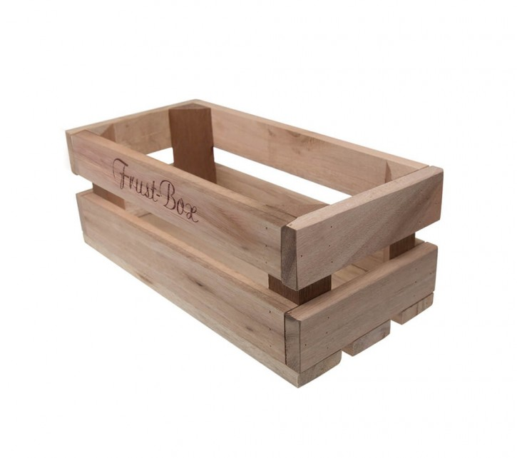 Holzkiste klein Frust-Box aus Palettenholz, 24 x 9 x 11 cm, 2,4 l