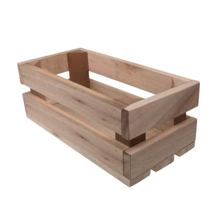 Holzkiste klein aus Palettenholz, 24 x 9 x 11 cm, 2,4 l