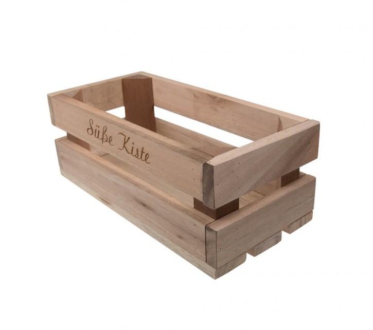 Holzkiste klein Süße Kiste aus Palettenholz, 24 x 9 x 11 cm, 2,4 l