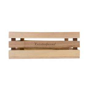 Holzkiste groß Kräuterfreund aus Palettenholz, 37 x 14 x 28 cm, 14,5 l