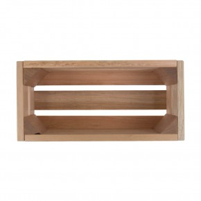 Holzkiste klein Kräuterfreund aus Palettenholz, 24 x 9 x 11 cm, 2,4 l