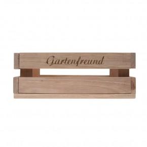 Holzkiste klein Gartenfreund aus Palettenholz, 24 x 9 x 11 cm, 2,4 l
