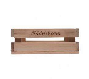 Holzkiste klein Mädelskram aus Palettenholz, 24 x 9 x 11 cm, 2,4 l