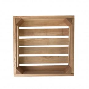 Holzkiste mittel aus Palettenholz, 24 x 9 x 24 cm, 5 l